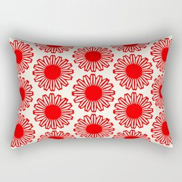 vintage flowers red Rectangular Pillow