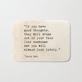 Roald Dahl Lovely Quote Bath Mat
