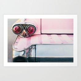 Pink Cadillac (rear) Art Print