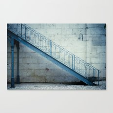 the blue stairs Canvas Print
