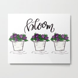 Bloom Watercolor Artwork Metal Print