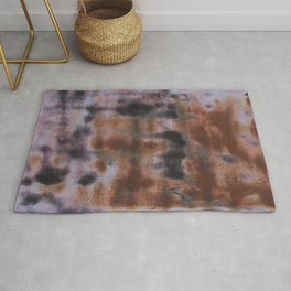 Copper and Iron abstract pattern Rug