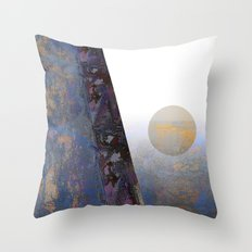 Futuristic landscape Throw Pillow