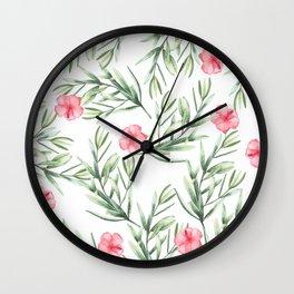 Delicate Hibiscus Wall Clock