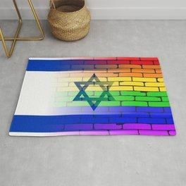 Gay Rainbow Wall Israel Flag Rug