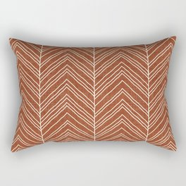 Strand in Rust Rectangular Pillow