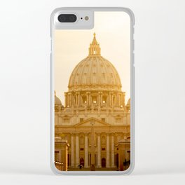 St. Peter's Basilica at sunset. Clear iPhone Case