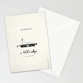 I 400 colpi  |  movie poster remake Stationery Cards