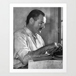 Ernest Hemingway Kunstdrucke