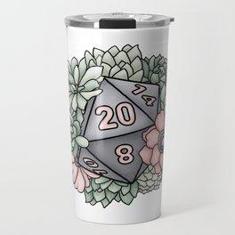 Succulent D20 Tabletop RPG Gaming Dice Travel Mug