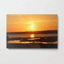 Sunset over Intercoastal Waterway - Topsail Beach Metal Print