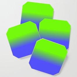 Neon Blue and Neon Green Ombré  Shade Color Fade Coaster