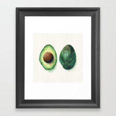 Avocado Split Framed Art Print