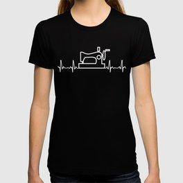 Sewing Heartbeat Shirt. Best Gift Ideas. T-shirt