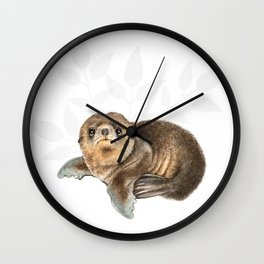 baby seal Wall Clock