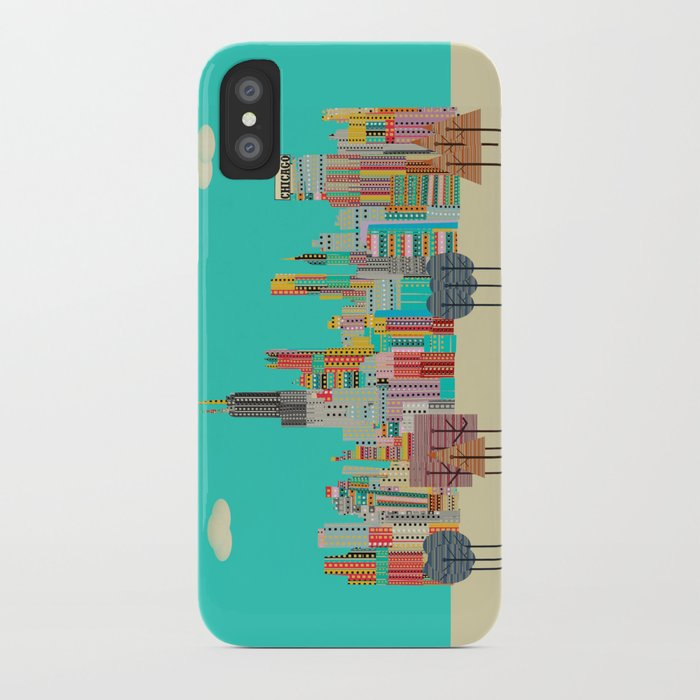 Chicago city (summer days) iPhone Case
