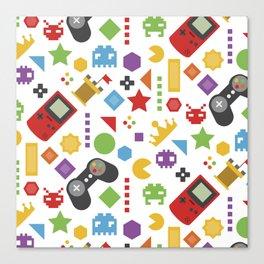 video game pattern Canvas Print