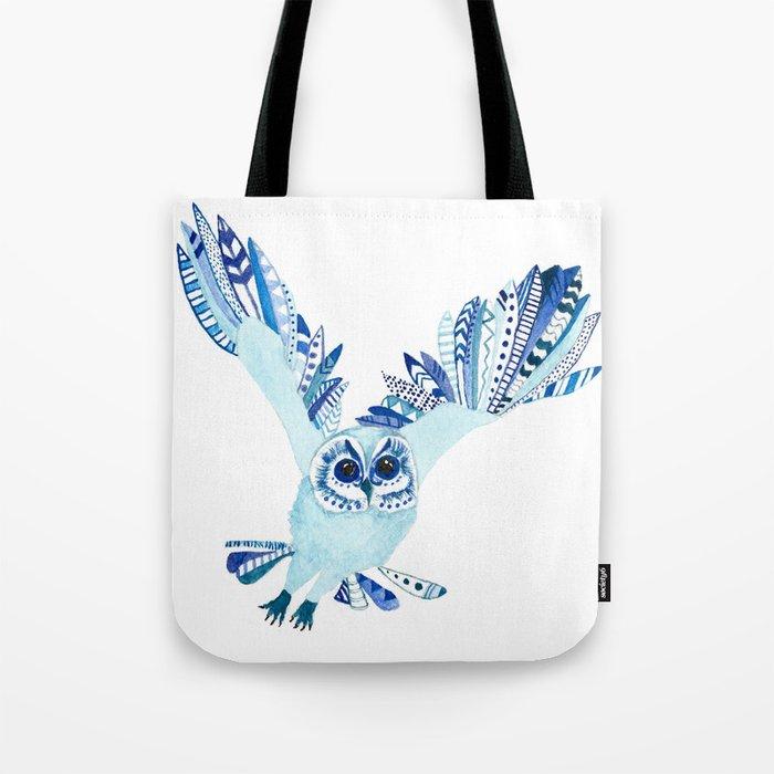 Aztec Owl Tote Bag