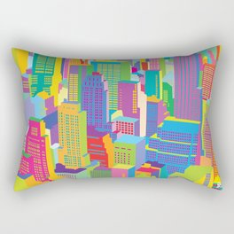 Cityscape windows Rectangular Pillow
