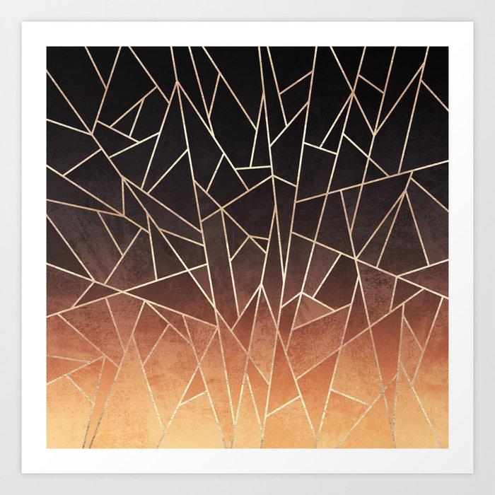 Shattered Ombre Art Print