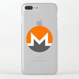 Monero Logo Clear iPhone Case
