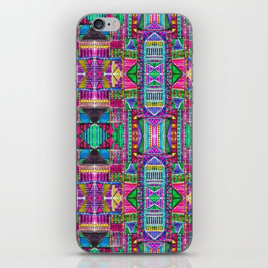 Tribal Patchwork Pink iPhone & iPod Skin