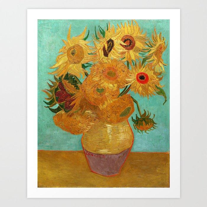 Vincent Van Gogh Twelve Sunflowers In A Vase Art Print