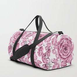 Dusty pink flowers. Duffle Bag