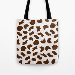 Brown Cow Spots Pattern Tote Bag