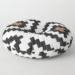 Urban Tribal Pattern No.16 - Aztec - Concrete and Wood Floor Pillow