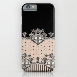 Dakota Black Lace iPhone Case