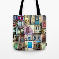 door Tote Bags featuring door by gzm_guvenc