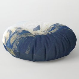 Ojai Valley With Snow Floor Pillow