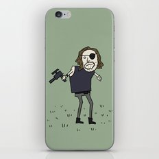 Sad Snake Plissken In A Field iPhone & iPod Skin