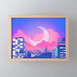 Dreamy Moon Nights Framed Mini Art Print