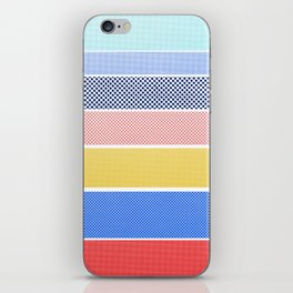 Halftone Stripes iPhone Skin