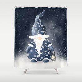 Winter Night Nordic Gnome Shower Curtain