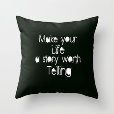 Life Story Throw Pillow