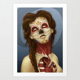 Feliz día de los Muertos Art Print