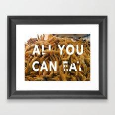 All you can Eat - Market Shenzhen Framed Art Print