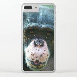 Rosie The Chimpanzee Clear iPhone Case