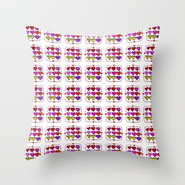 Love Hearts Faces - Valentines Throw Pillow