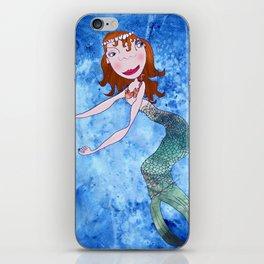the redhead mermaid iPhone Skin