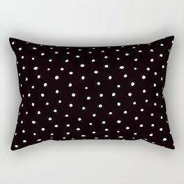 Minimal- Small white polka dots on black - Mix & Match with Simplicty of life Rectangular Pillow