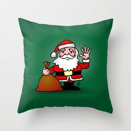 Santa Claus waving Throw Pillow