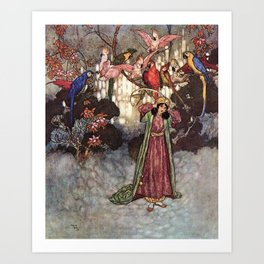 Beauty by Edmund Dulac Art Print