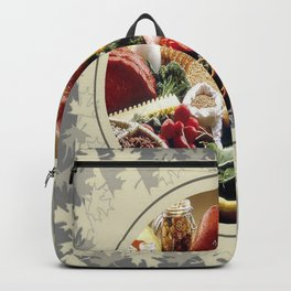 Thanksgiving Dinner and Autumn Decoration. Backpack