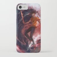 percy jackson iPhone & iPod Cases featuring Dark Percy by k1216