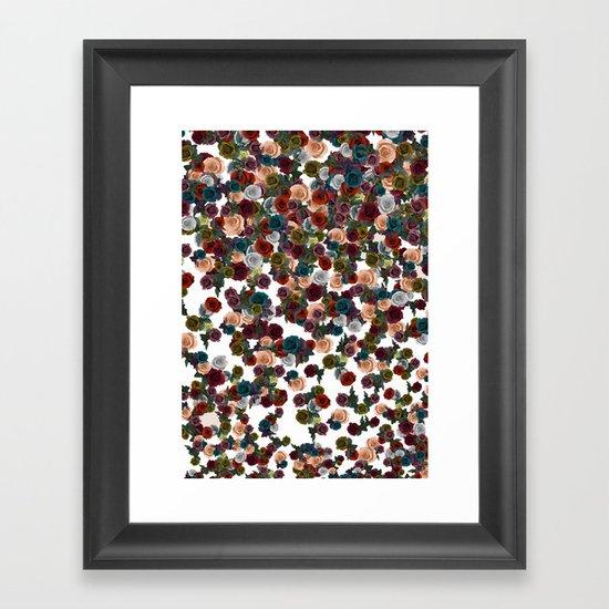 mini floral Framed Art Print