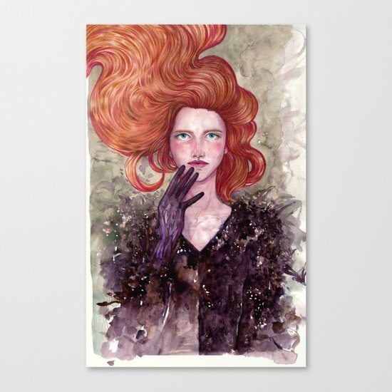 The Girl with X-Ray Eyes Canvas Print